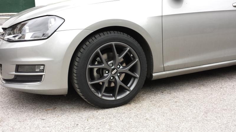 The Tungsten Silver Volkswagen Golf Vii With Bbs Sr Wheels