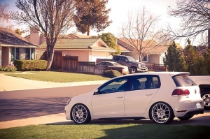 Volkswagen GTI with New BBS CK Wheels and Tires