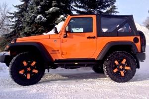 "Jeep Wrangler JK Orange ""Krush"" with XD Rockstar II Wheels"