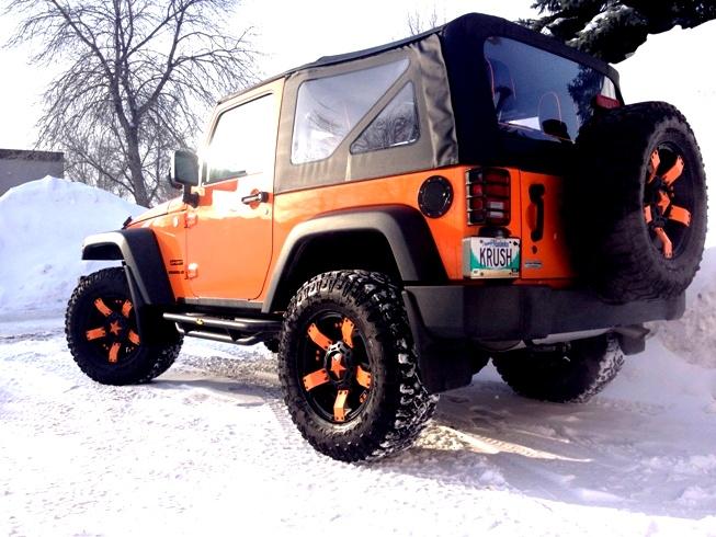 The 2012 Jeep Wrangler Jk Orange Krush With Xd Rockstar