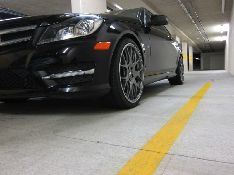 MercedesBenz C350 Coupe with BBS CHR Staggered Wheel and Tire Package