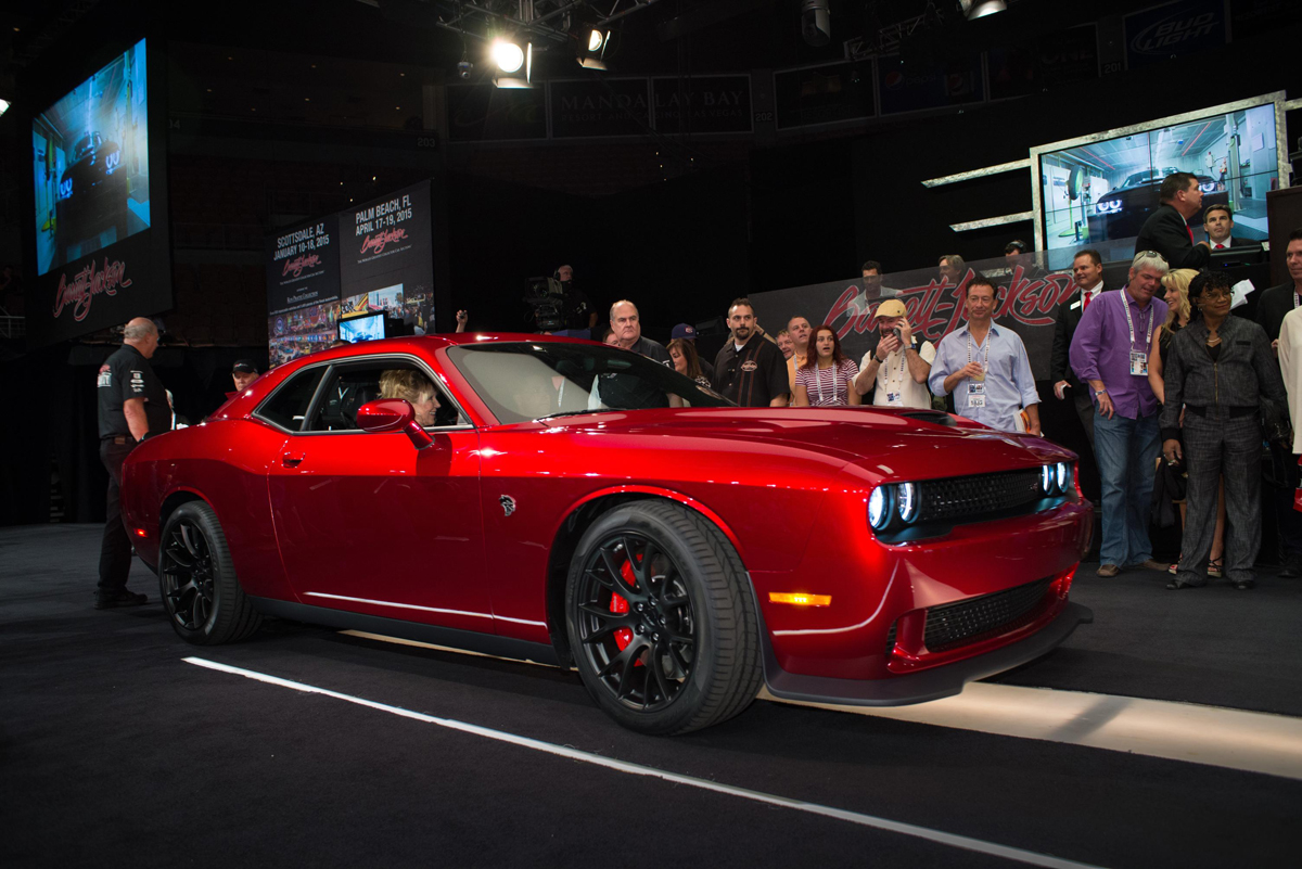 First Dodge Challenger SRT Hellcat and Custom Wheels Sells ...