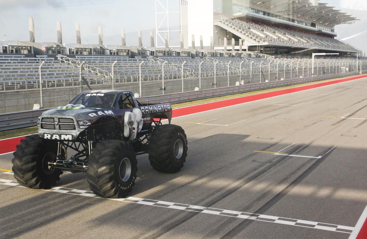 the raminator monster truck has serious off road wheels wheelhero. Black Bedroom Furniture Sets. Home Design Ideas