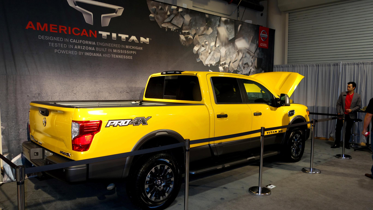 The Nissan Titan XD with f Road Rims and Tires Rolls