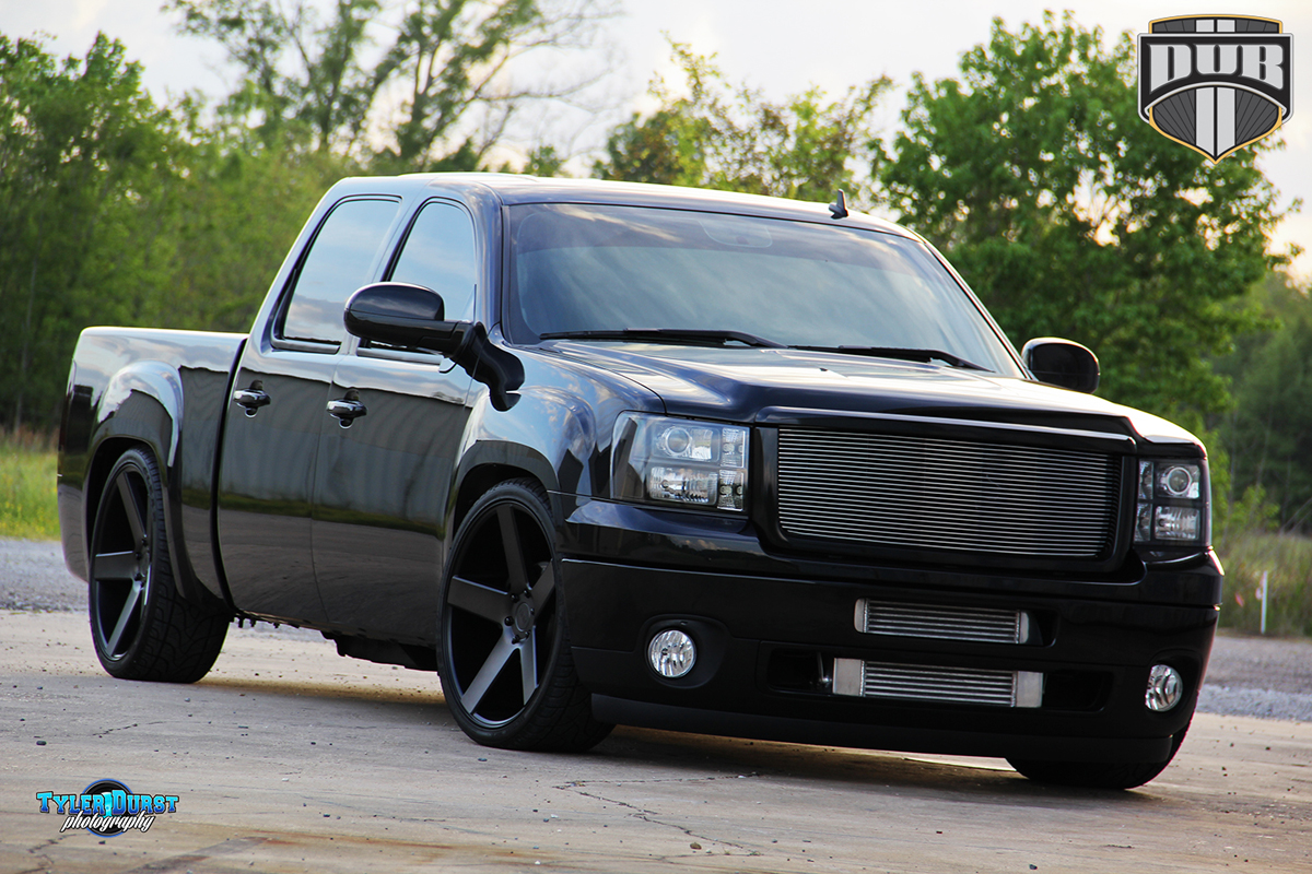 "2010 F150 Custom >> Slammed GMC Sierra with 24"" DUB Baller Wheels - WheelHero"