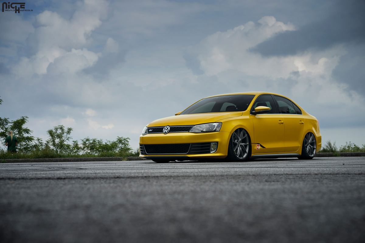 Slammed and Styling with this VW Jetta GLI with Niche Wheels