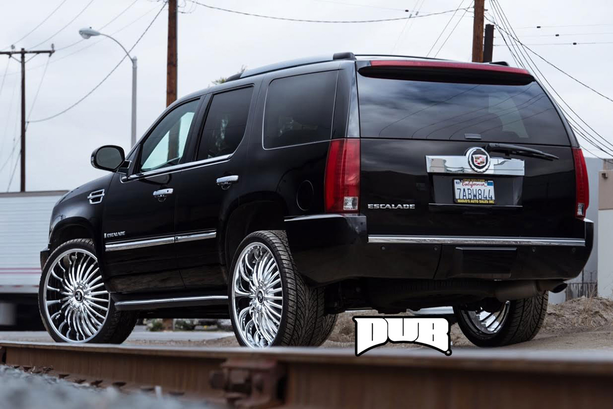 Cadillac Escalade With Black Rims >> Rock it with this Cadillac Escalade wearing DUB Wheels