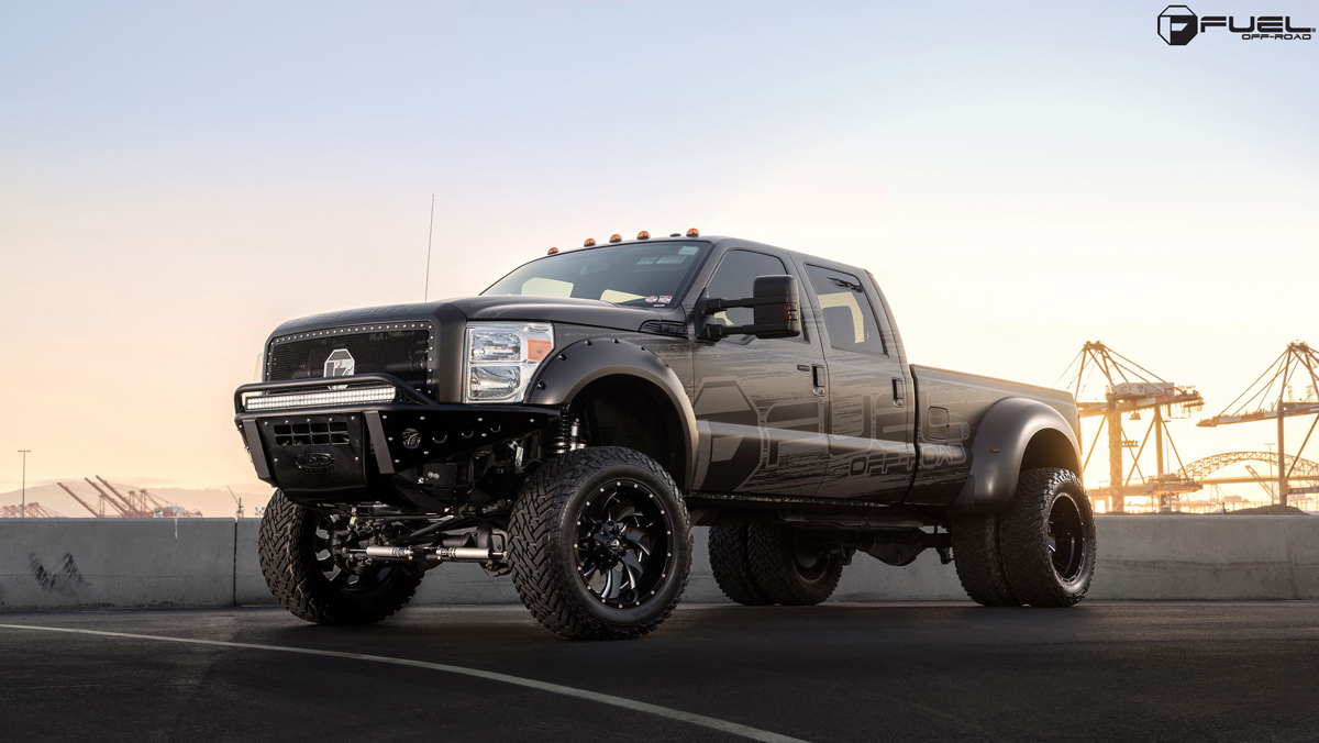 Ford F250 Lifted >> Four in the Back with this F350 Super Duty with Fuel Wheels