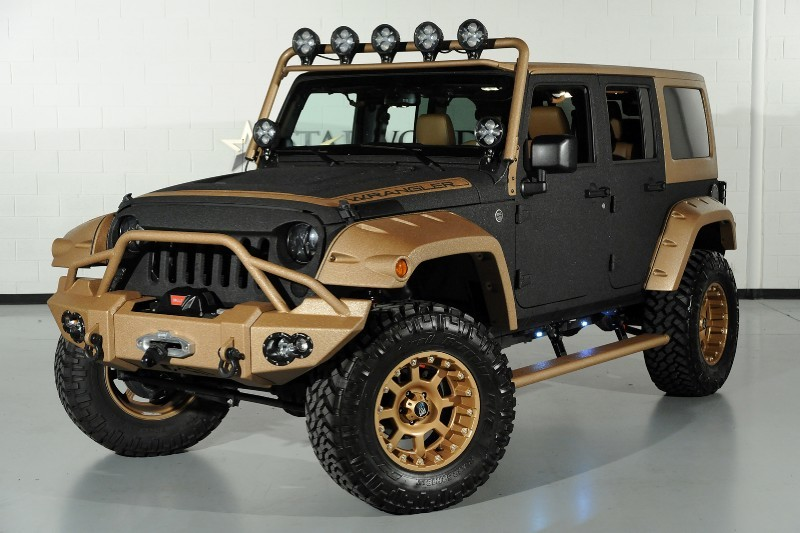 This Jeep Wrangler with XD Wheels is Desert Darkness