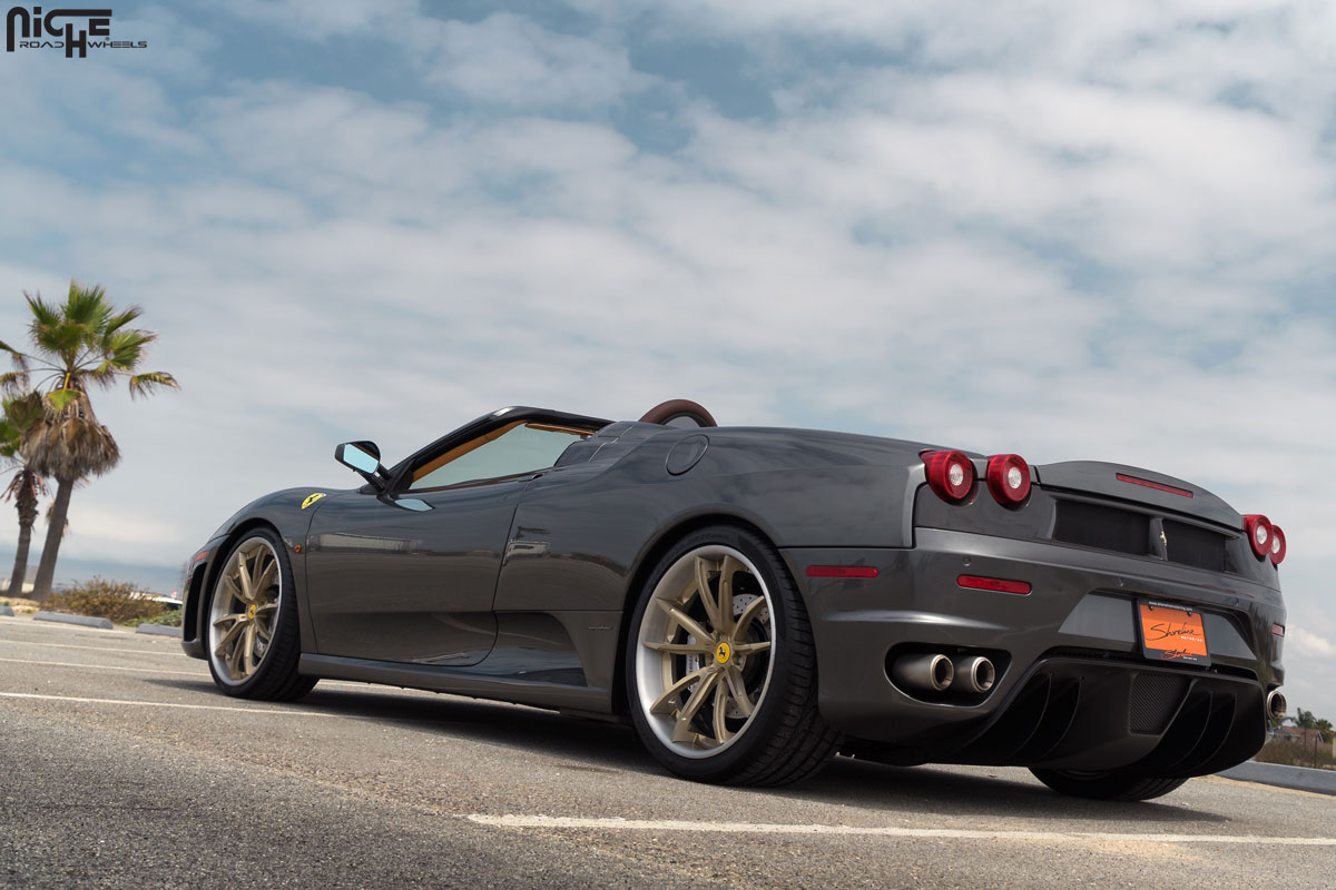 Drop The Top With This Ferrari F430 Spider And Niche Wheels