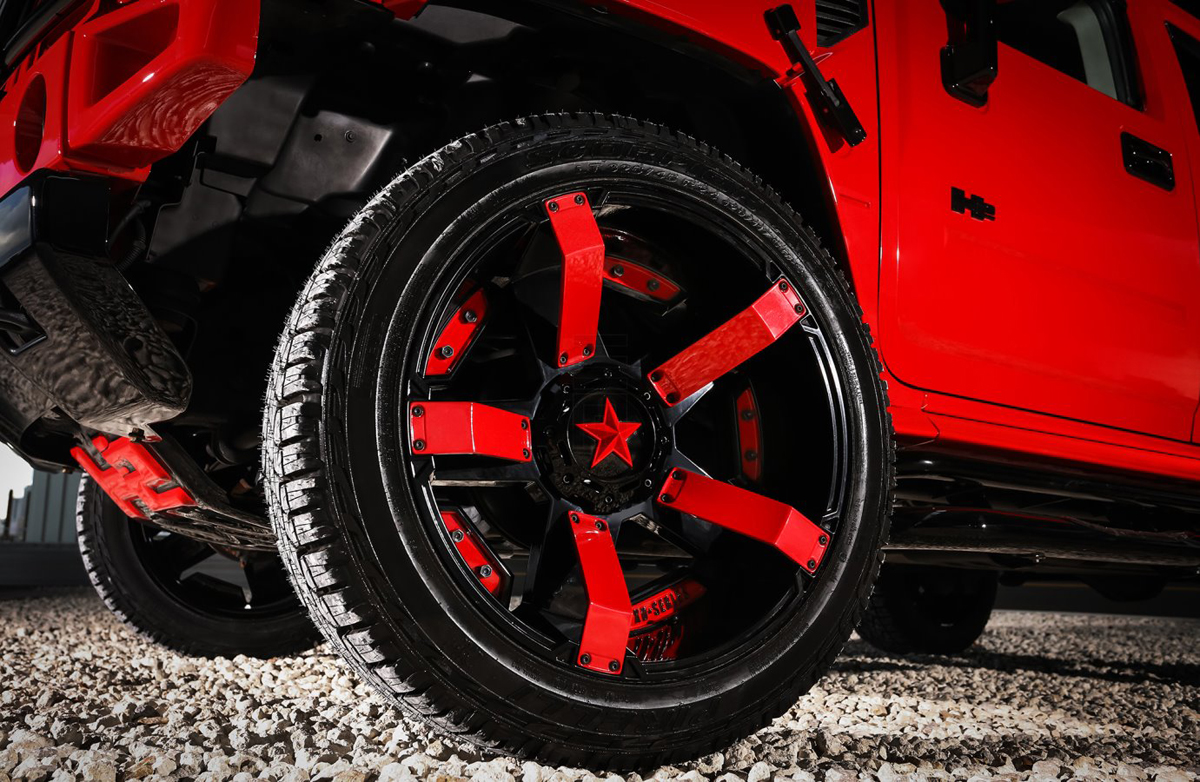 All Terrain Tires >> This Hummer H2 w/ XD Wheels is Red and Ready - WheelHero