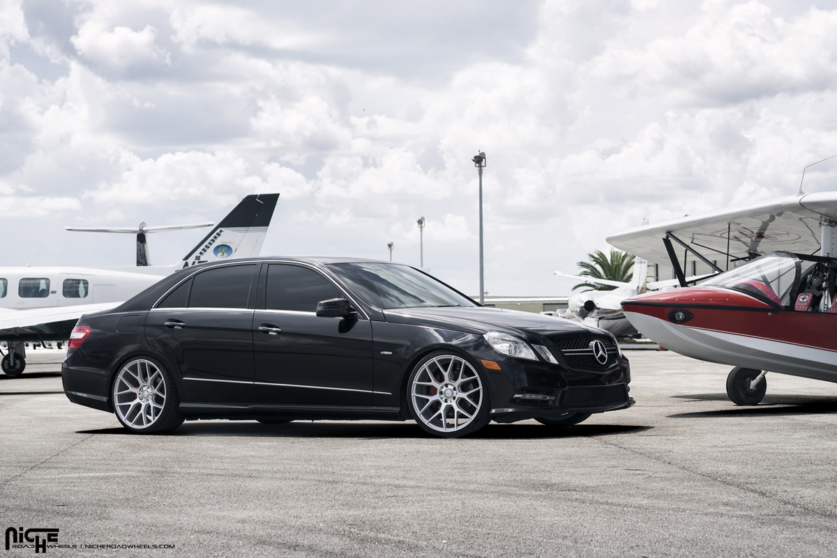 Roll in euro style with this e350 on niche wheels for Mercedes benz e350 2015