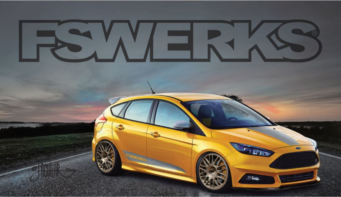 The FSWERKS Focus ST w Custom Wheels is SEMA Bound