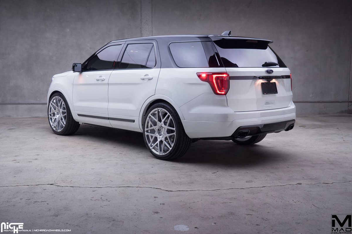White Tire Paint >> Cruising in Style with the Ford Explorer and Niche Wheels