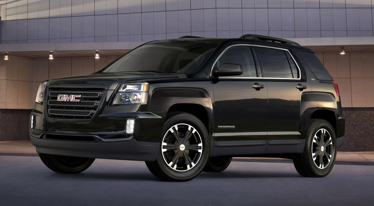 the gmc terrain goes dark w custom wheels and bodywork. Black Bedroom Furniture Sets. Home Design Ideas