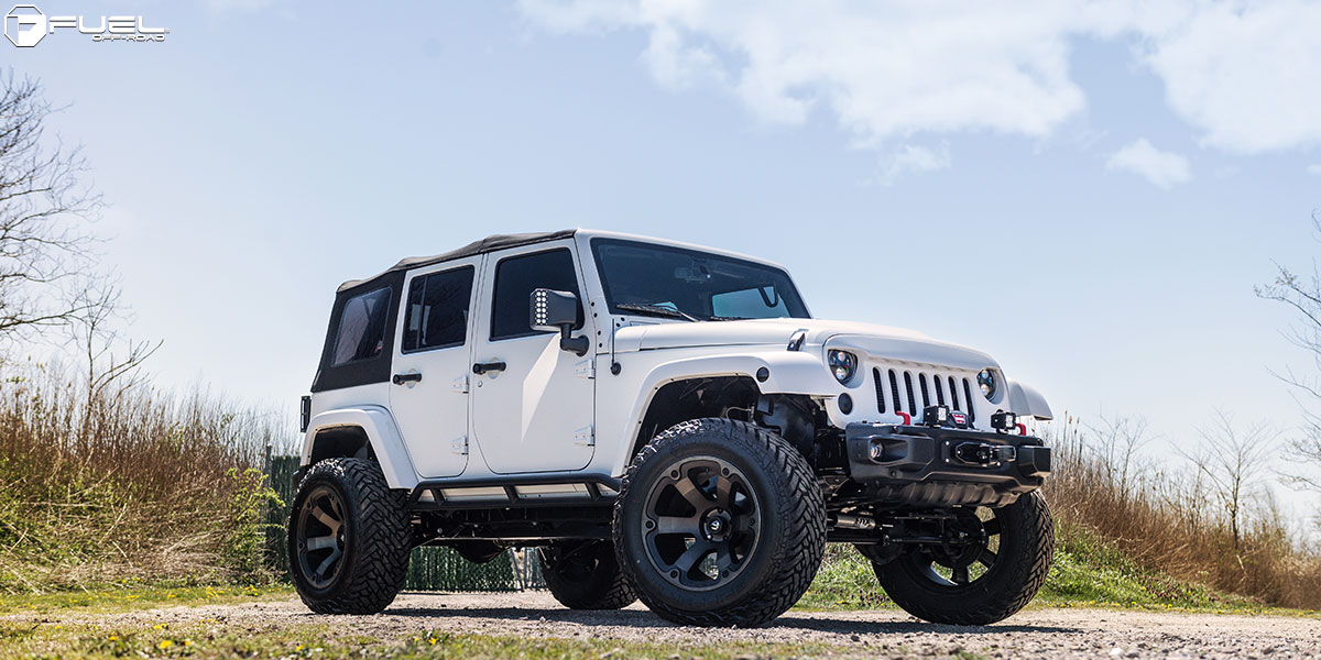 Jeep Wrangler With Black Rims >> This Jeep Wrangler with Fuel Wheels is a Beast– Literally!