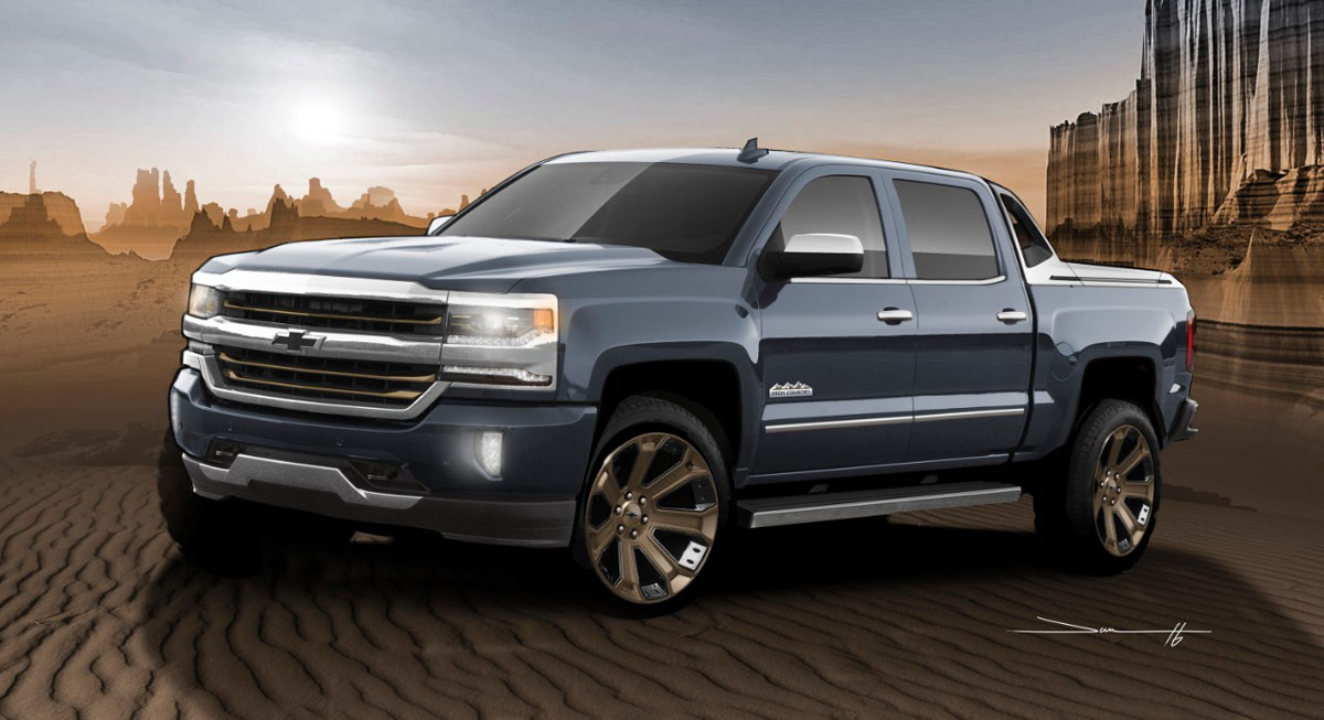 The Silverado High Desert Brings Its Truck Rims To Sema