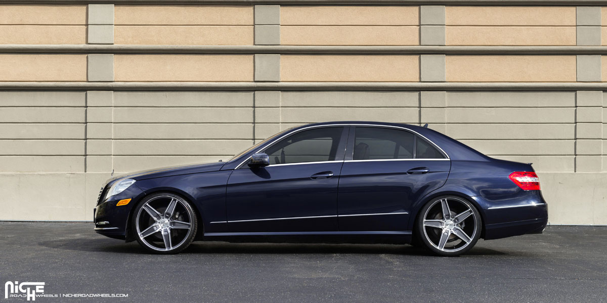 This mercedes benz e350 with niche wheels is classy for Mercedes benz with rims
