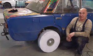 Lada Paper Rims and Tires