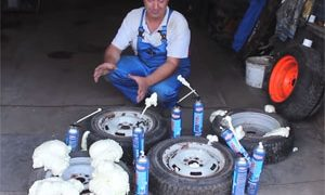 Construction Foam in Tires