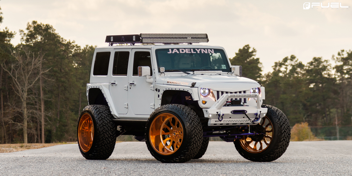 Go For The Gold With This Jeep Wrangler On Fuel Wheels