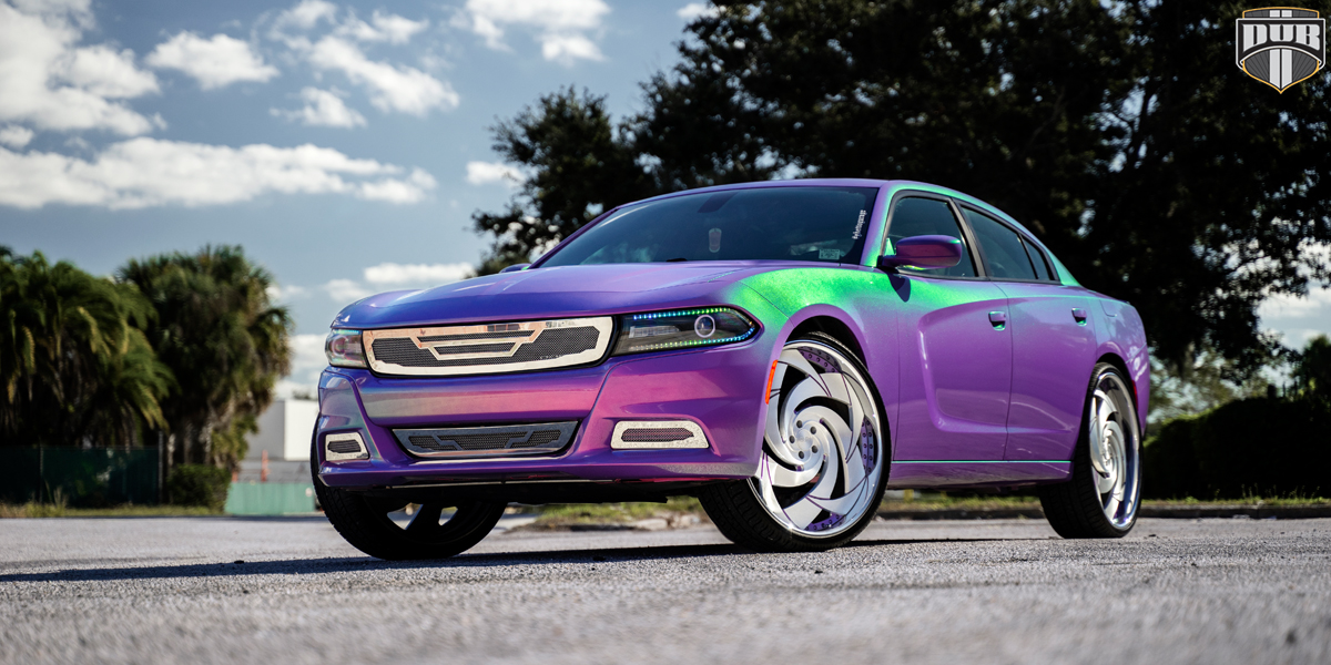 Dodge Charger DUB Slasher - X102 Wheels