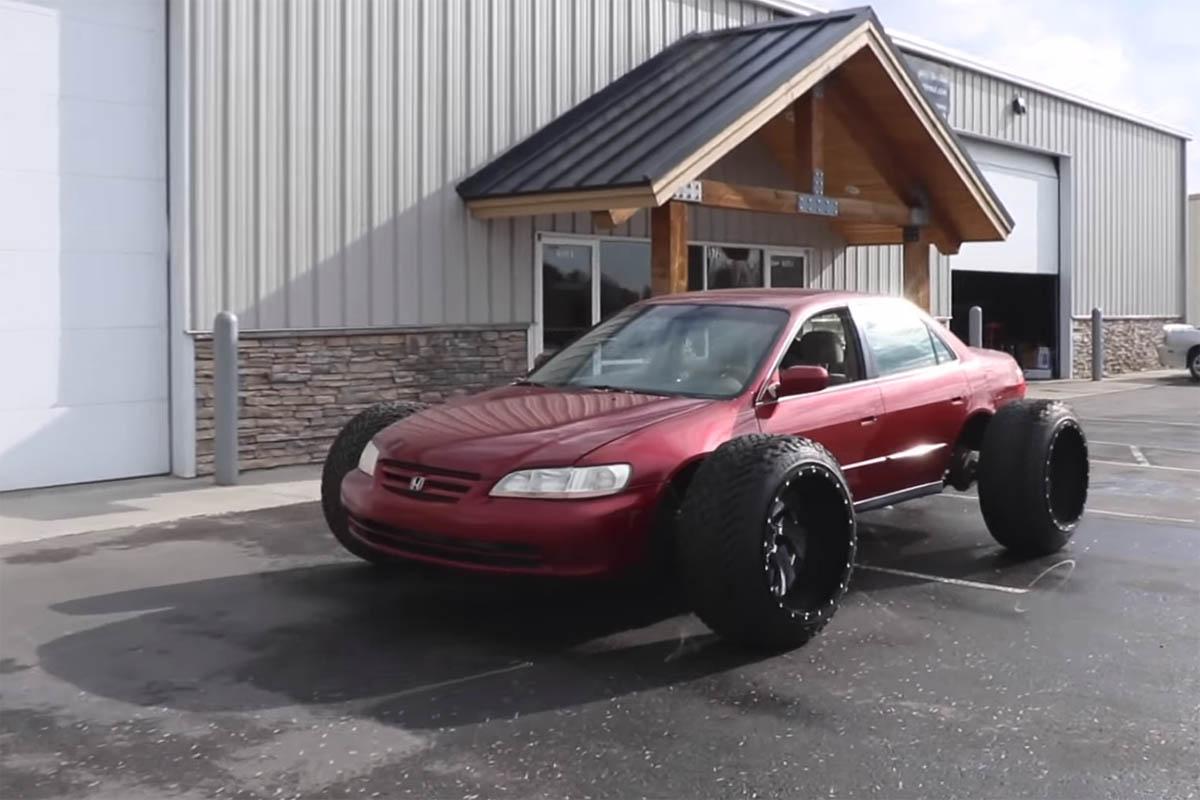 Honda Accord with Truck Wheels