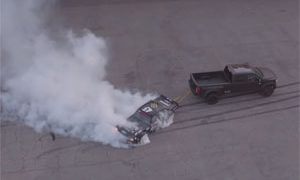 Ken Block Hoonicorn Burnout Towed