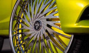 Spin Chrome Wheels w/ Mopar Dodge Challenger Drag Pak