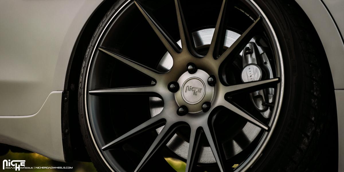 Infiniti Q50 Red Sport Niche Vicenza - M153 Wheels