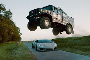 Red Bull Lamborghini Kamaz Rims and Tires Goodwood