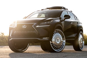 Lexus NX200t with DUB Spinners Euphoric – S827 Wheels