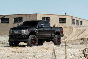 Ford F-250 Super Duty with Fuel Reaction – D755 Rims