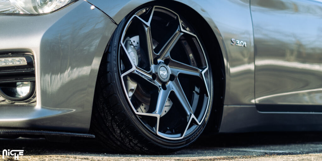 Infiniti Q50 Red Sport 400 with Niche Flash - M255 Wheels