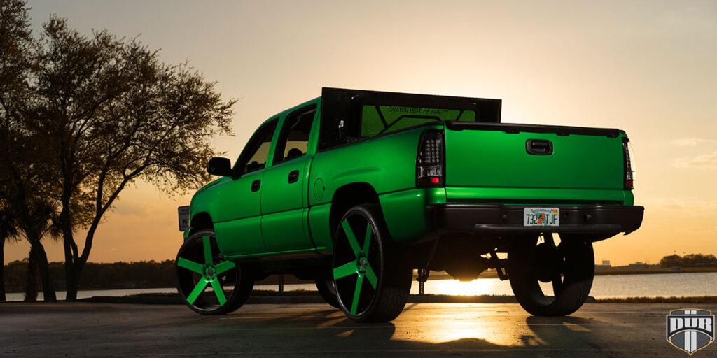 Chevrolet Silverado with DUB Baller - S116 Wheels