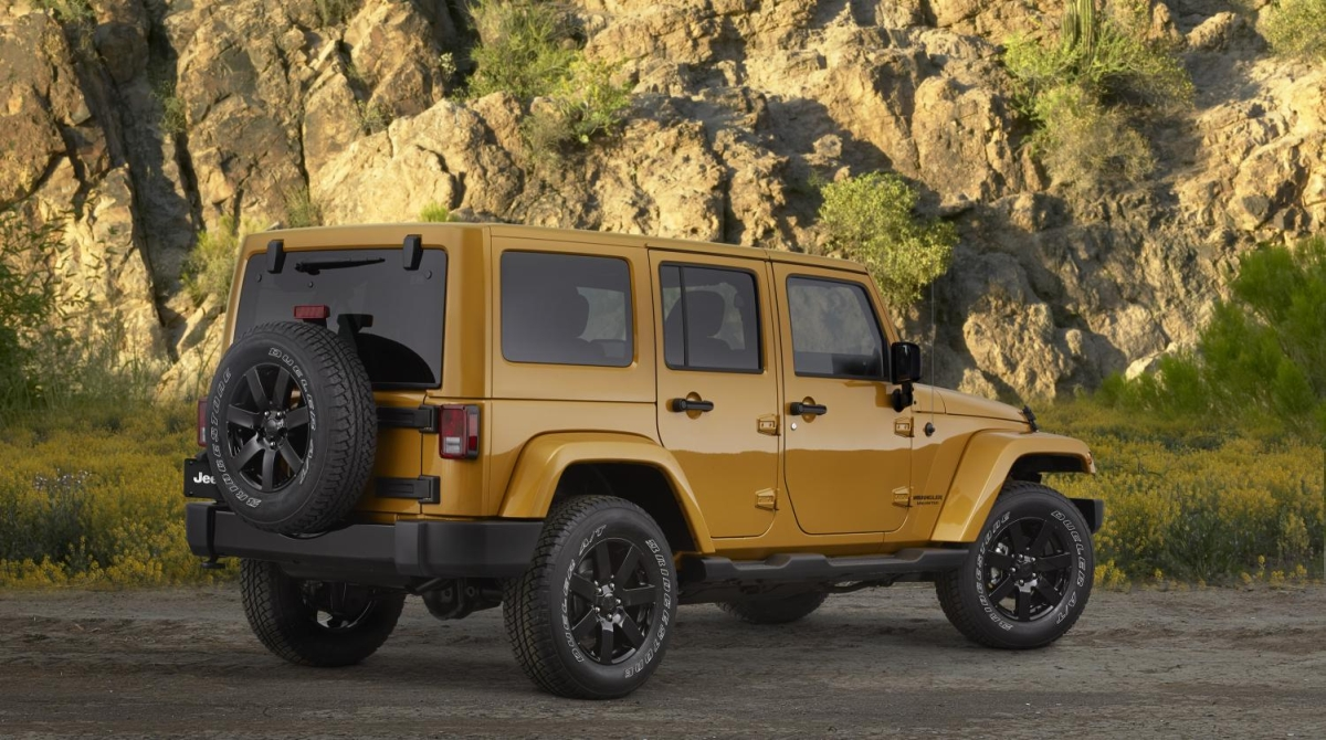 The Wrangler Altitude Edition Gets new Jeep Rims Paint and Parts