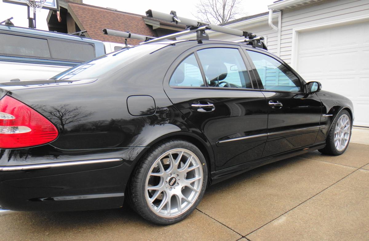 The Mercedes Benz E55 Amg With Bbs Chr Wheels Is Super Sedan