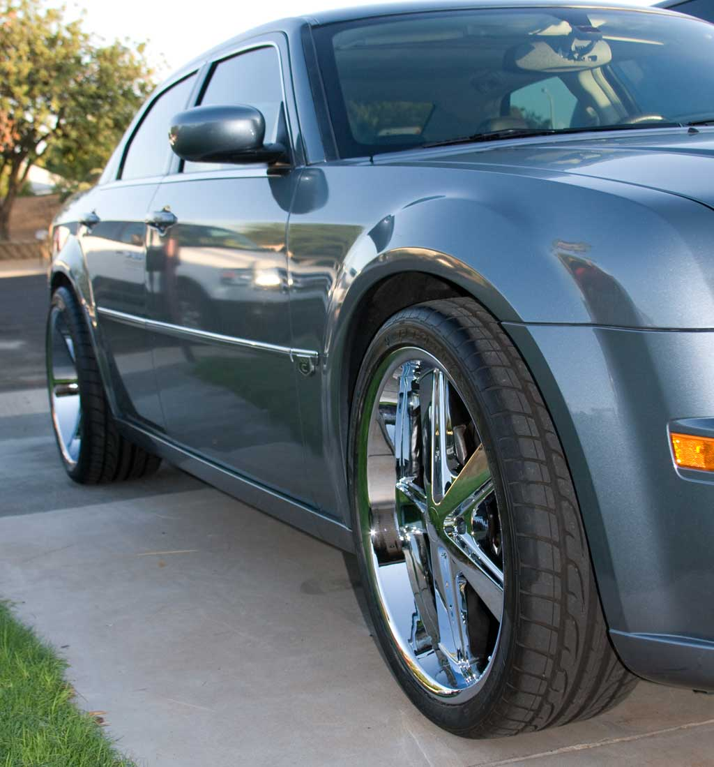 Chrysler 300 SRT-8 w/ KMC Wheels and Staggered Wheel and ...