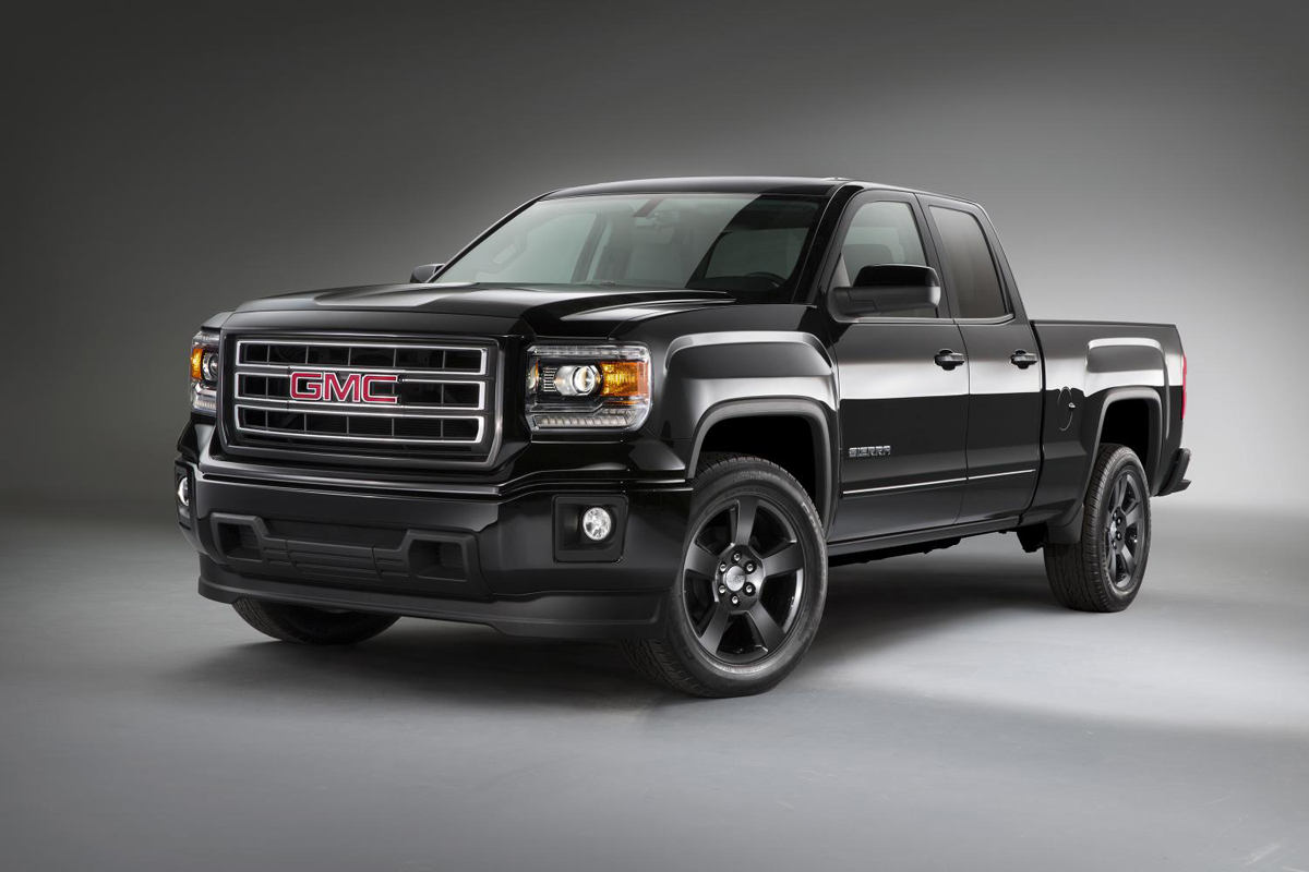 The gmc sierra elevation is ready with its off road wheels and gear
