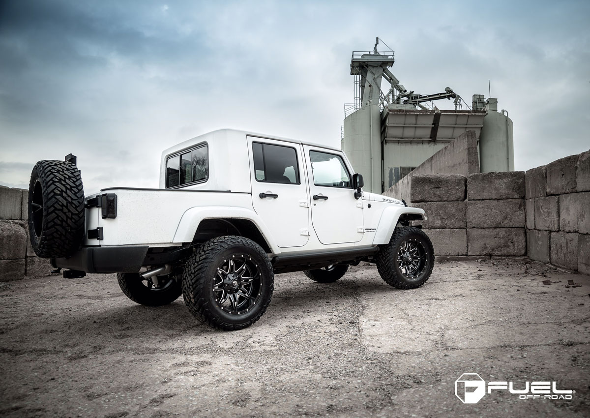 This Jeep Wrangler Sporting A Fuel Rims And Tire Package