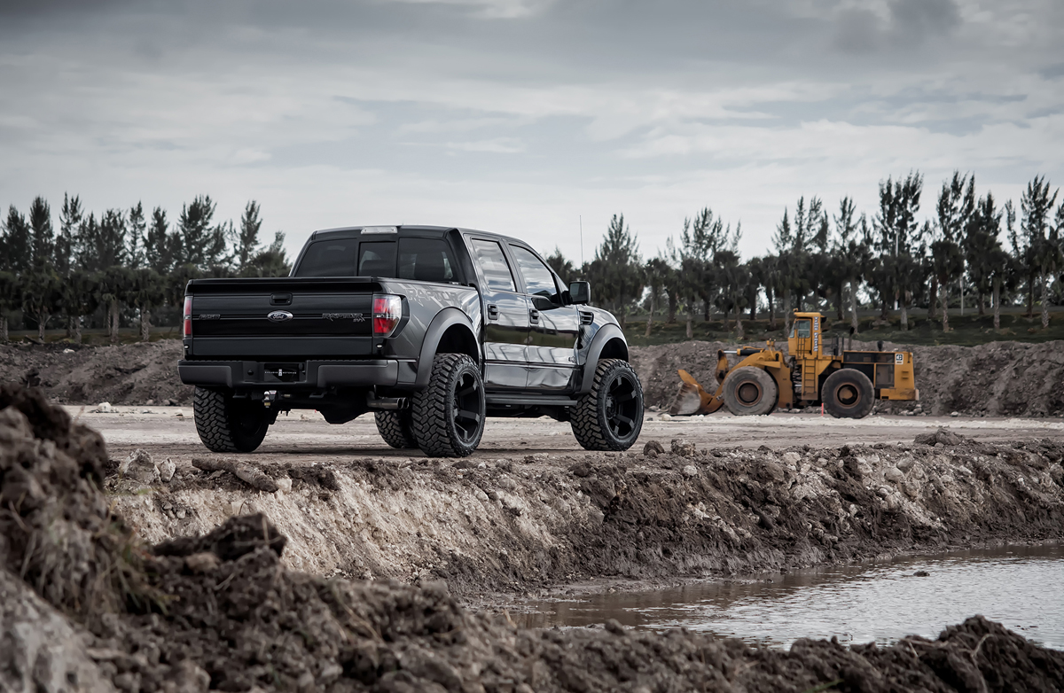 This Ford SVT Raptor with Off Road XD Wheels and Tires is a Monster