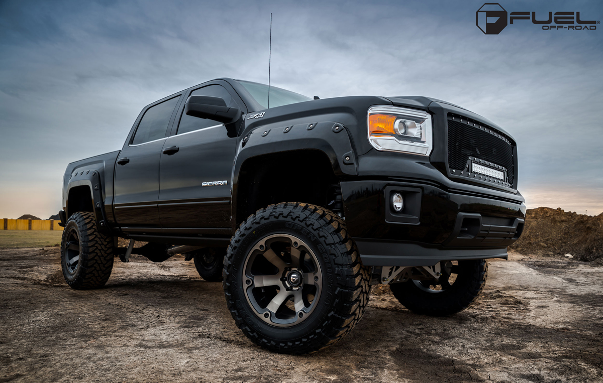 Get Beastly With This Gmc Sierra Riding On Fuel Wheels