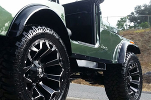 Jeep Wrangler Rims And Tire Packages >> This CJ7 Jeep with Fuel Wheels is Ready to Assault!