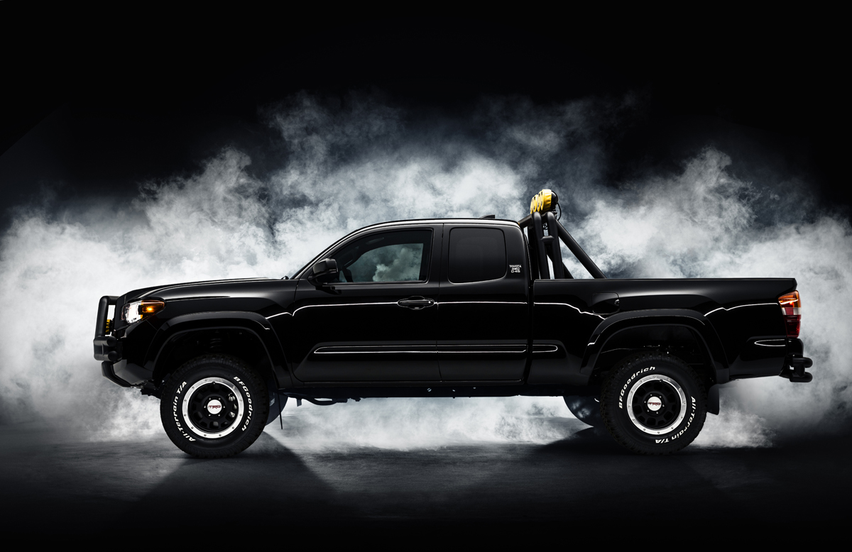 ride in mcfly s tacoma with off road wheels and tires. Black Bedroom Furniture Sets. Home Design Ideas