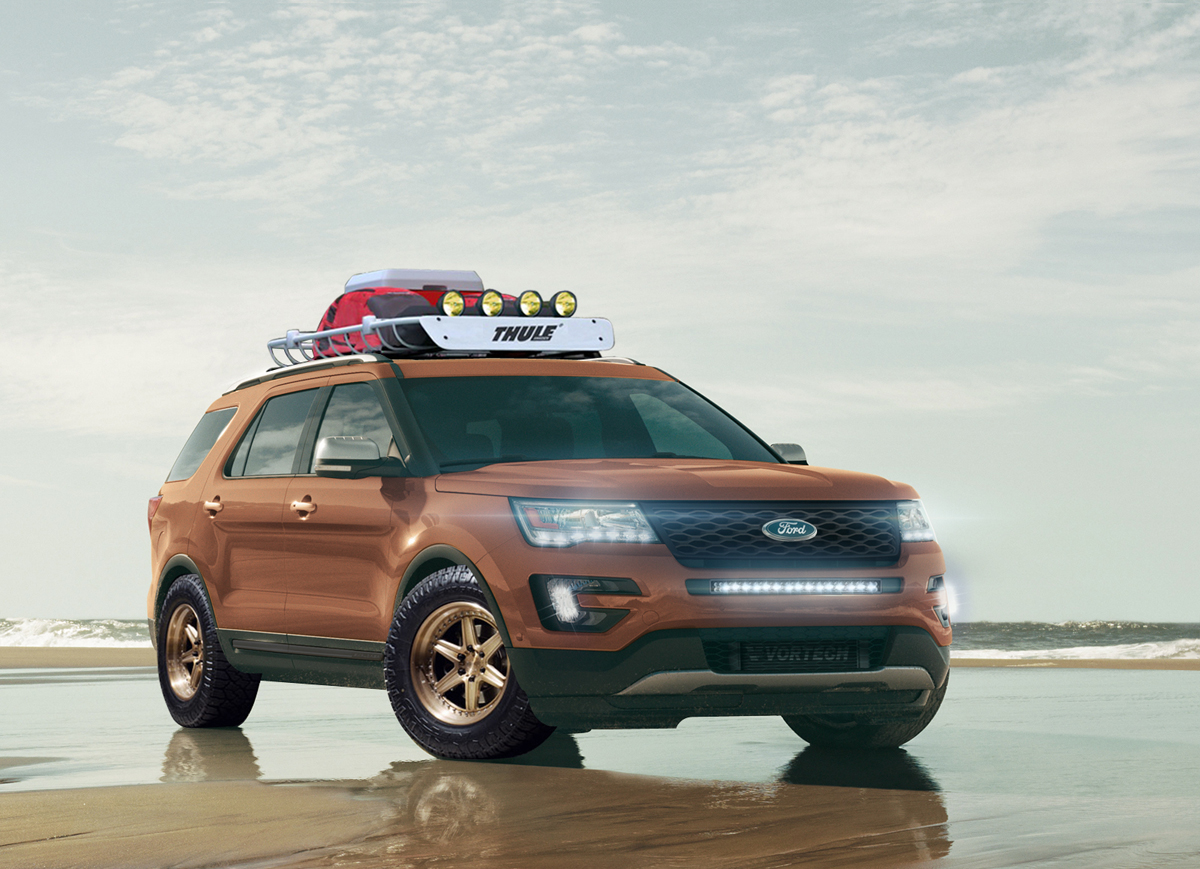 This Ford Explorer With Custom Wheels Is An All Star