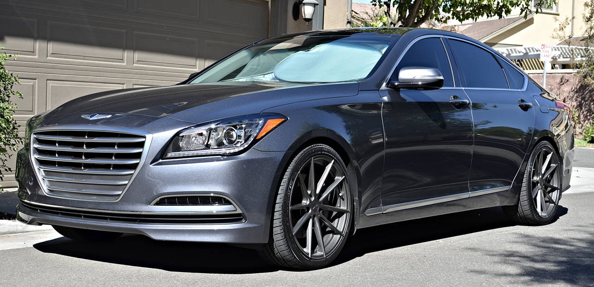 Get Stylin With This Lowered Genesis On Tsw Wheels