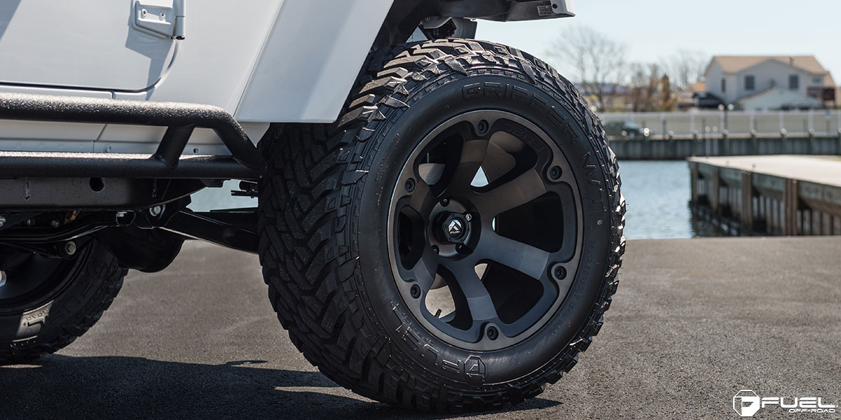 This Jeep Wrangler With Fuel Wheels Is A Beast Literally