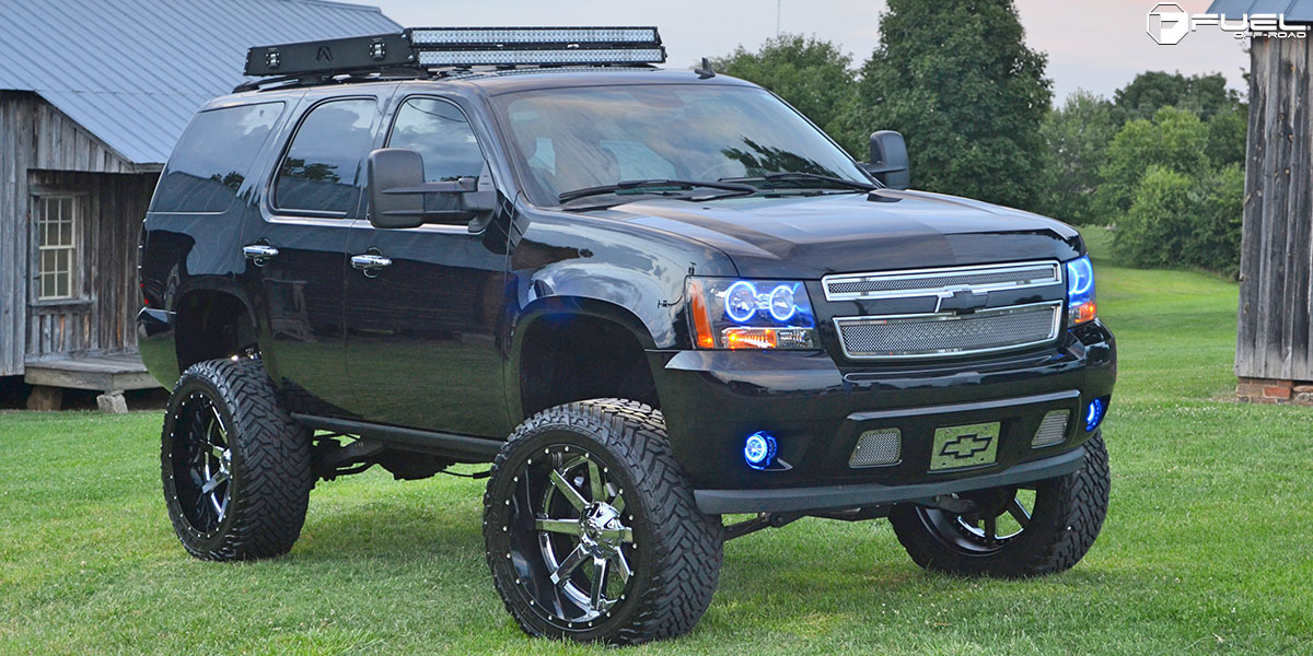 2016 Tahoe Lifted >> Time for some Chevy Tahoe Badassery with Fuel Wheels!