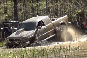 Truck Wheels Stuck in the Mud