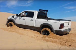 RAM 1500 Tires and Wheels Stuck in Sand
